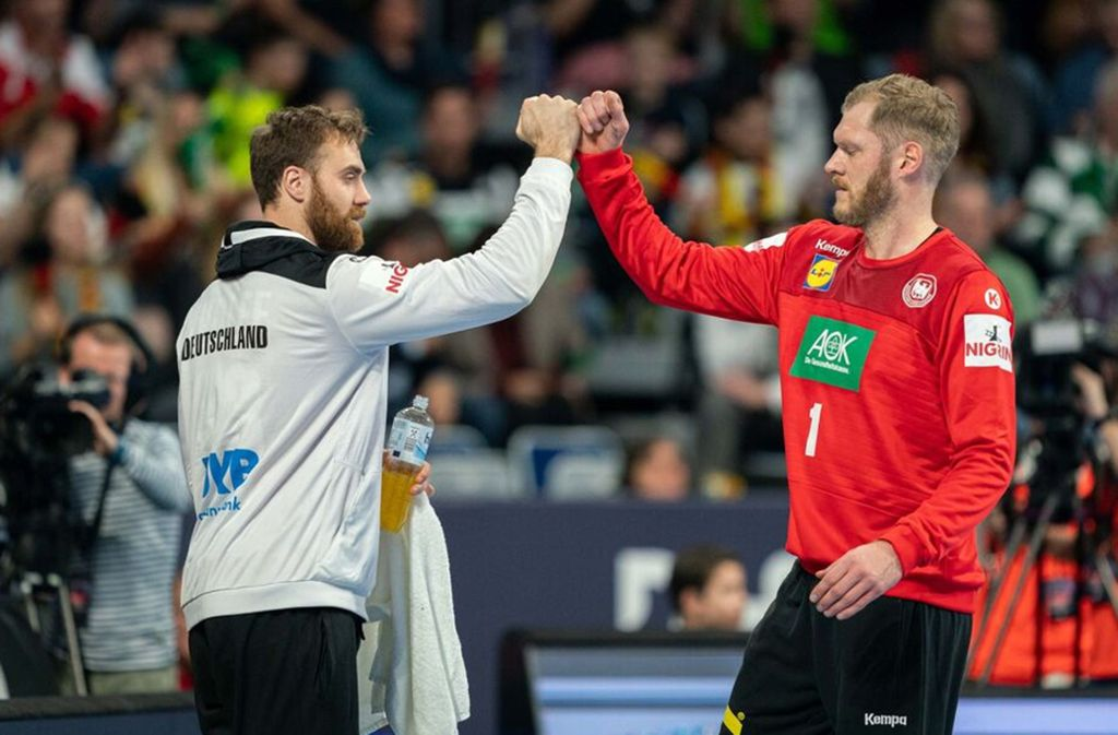 Das starke aktuelle deutsche Torwart-Duo: Andreas Wolff (li.), Johannes Bitter. Foto: dpa/Robert Michael