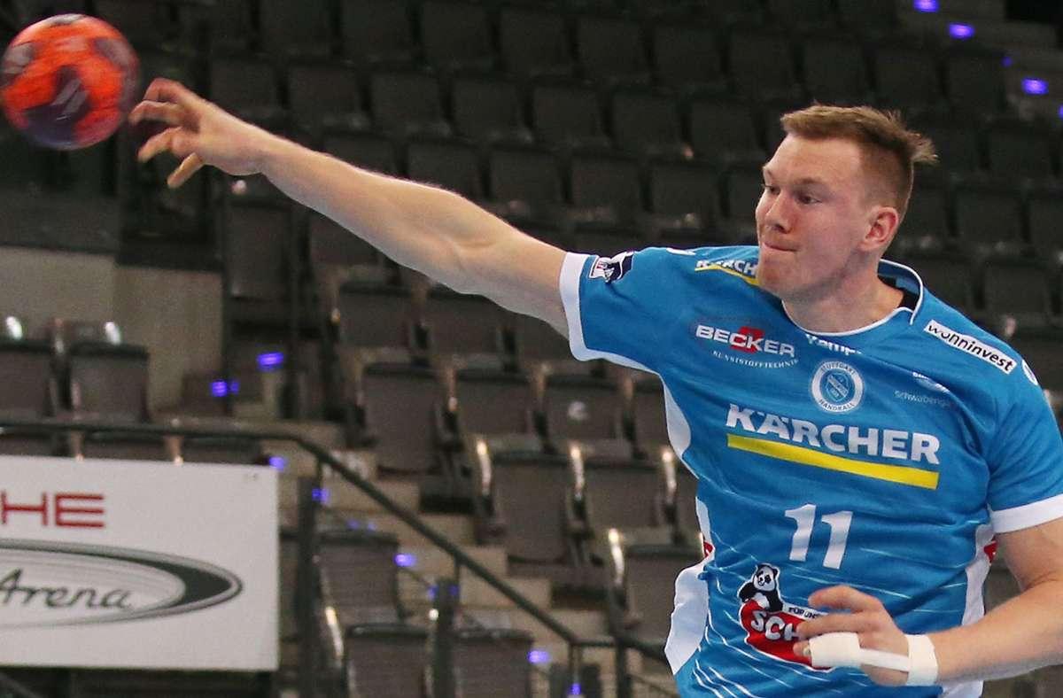 Starke Vorstellung mit dem TVB Stuttgart in Nordhorn: Der Schwede Adam Lönn, der neun Treffer erzielte. Foto: Baumann