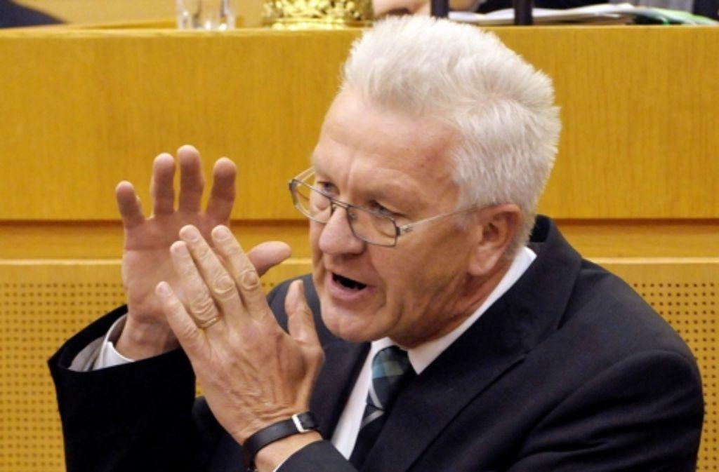 Kretschmann hat sich zum Filderbahnhof geäußert. Foto: dpa