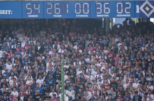 Kult-Uhr im Volksparkstadion wird abgebaut