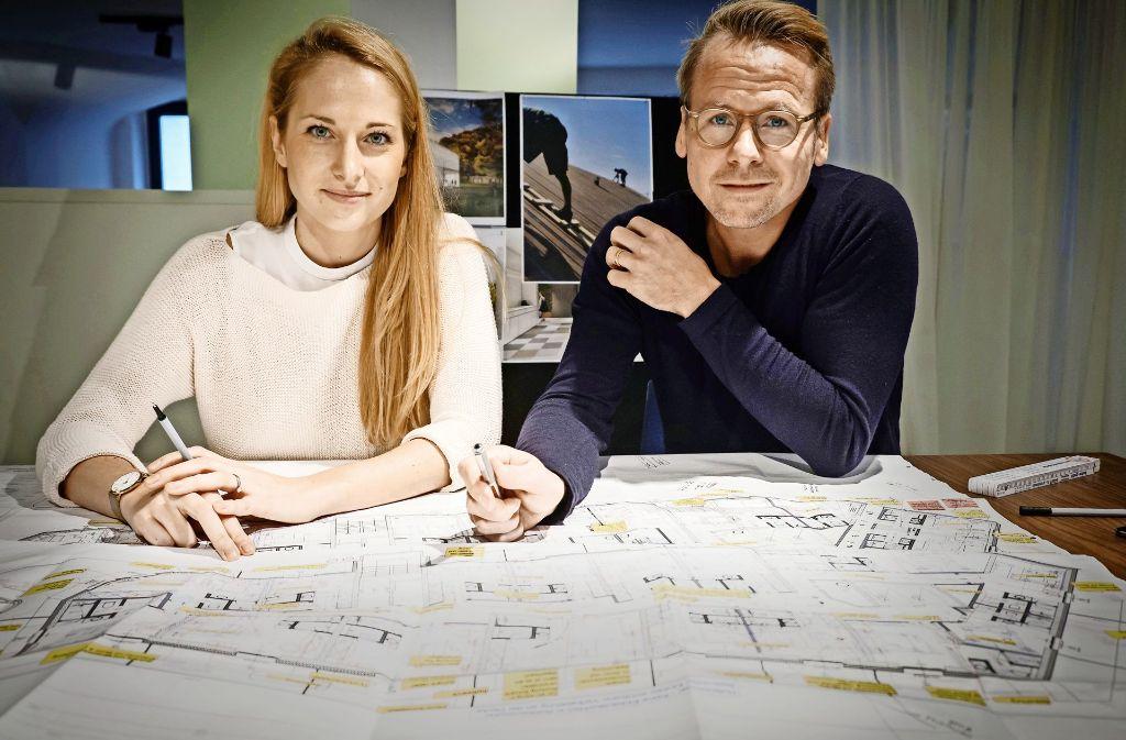 Katharina Axtmann und Frank Dittel entwerfen die Zukunft des Handels. Foto: Lichtgut
