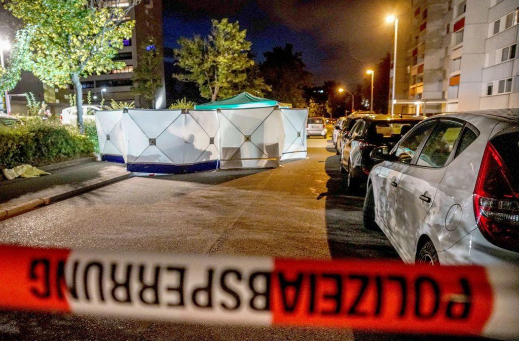 Vergangene Woche tötete der Mann einen 36-Jährigen im Stuttgarter Stadtteil Fasanenhof. Foto: dpa