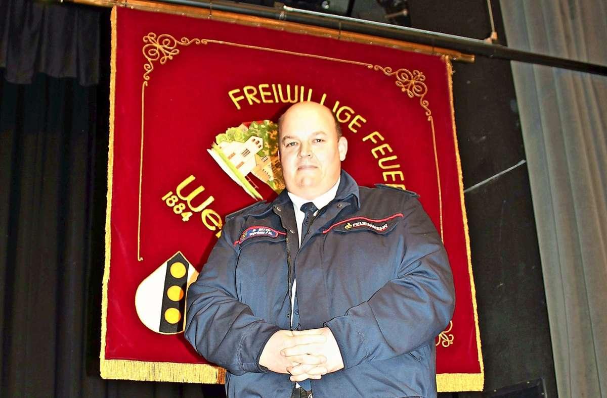 Steffen Sitte ist der neue Kommandant der Wernauer Feuerwehr. Foto: oh