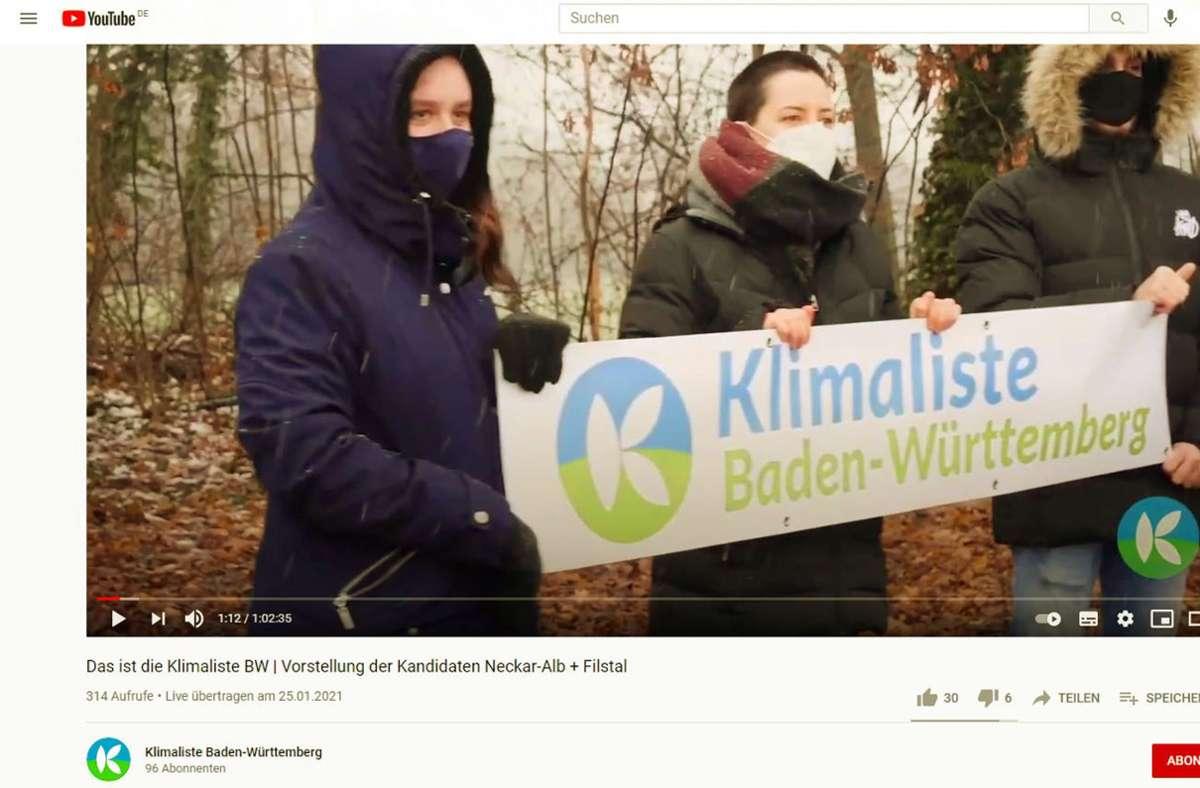 Ihren Wahlkampf hat die Klimaliste auch auf Youtube organisiert. Foto: StZ