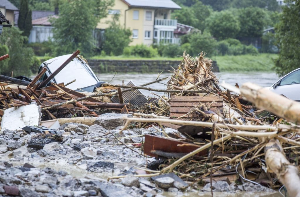 Die Schäden nach dem Unwetter sind enorm. Nun geht es ans Aufräumen. Foto: 7aktuell.de/Adomat