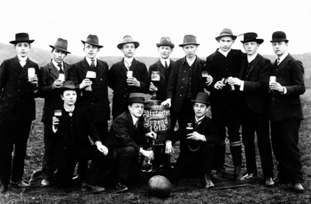 Die Jugendfußaller im Jahr 1912. Foto: TSV Birkach
