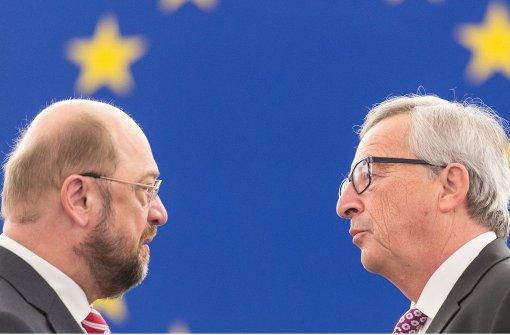 Schulz und Juncker sehen noch kein Ende der EU-Krise