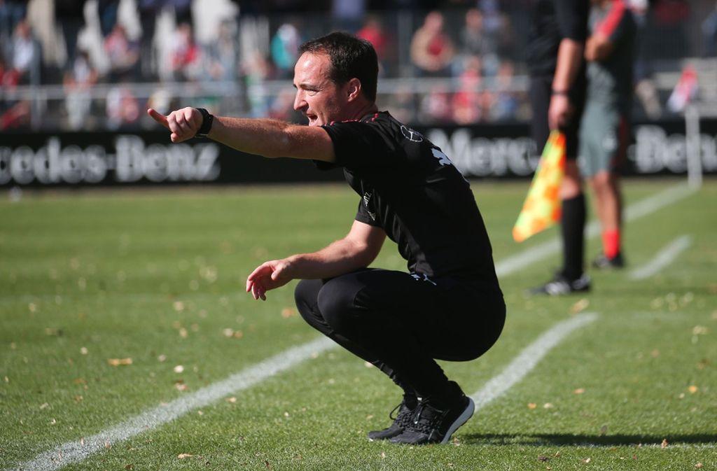 Da geht´s Richtung Finale – VfB-Jugendtrainer Nico Willig will mit seiner U19 nach Berlin. Foto: Pressefoto Baumann