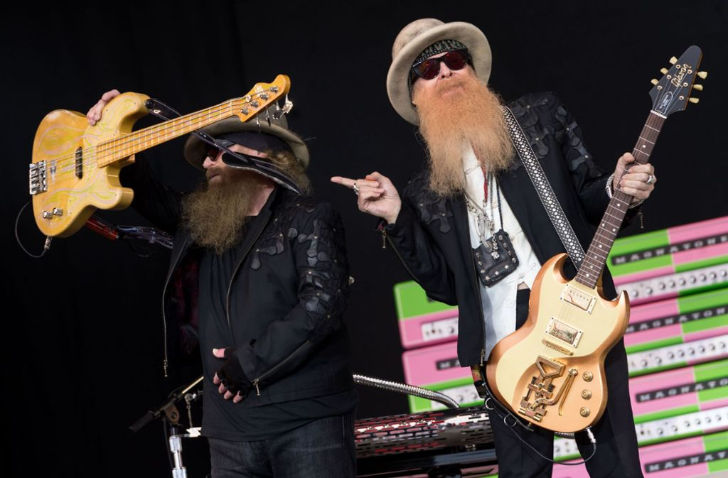 50 Jahre Bluesrock-Knowhow: Billy Gibbons (rechts) und Dusty Hill von ZZ Top. Foto: Getty Images
