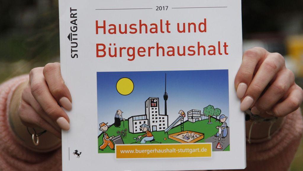 Scharfe Kritik am Stuttgarter  Bürgerhaushalt