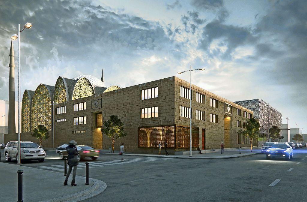 So soll die neue Moschee an der Mauserstraße, Ecke Albrechtstraße, künftig einmal aussehen Foto: SL Rasch