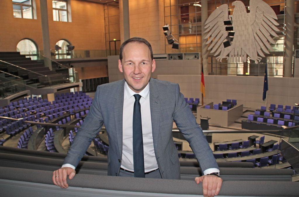 Im Moment im Bürgerbüro in Böblingen statt Bundestag: Foto: privat