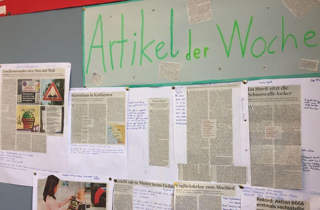 Die Schüler haben für sie interessante Texte gesammelt. Foto: privat