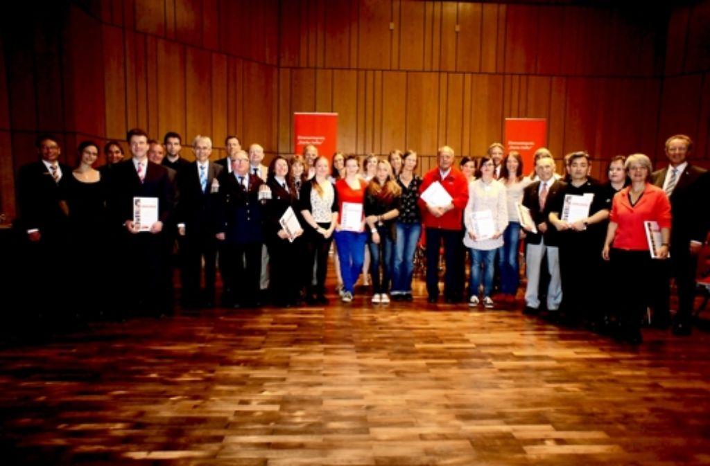 Die Preisträger des Ehrenamtspreises. Foto: Ursula Vollmer
