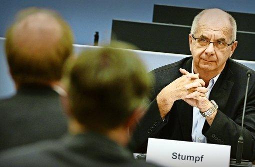 Auch vor dem Untersuchungsausschuss im Landtag ist Siegfried Stumpf geladen gewesen, ebenso wie beim Wasserwerferprozess. Foto: dpa