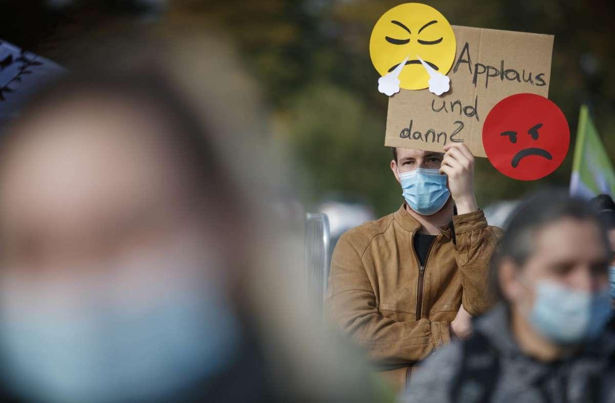 Bereits Ende September haben Krankenhausbeschäftigte in Ludwigsburg gestreikt. Foto: Gottfried Stoppel/Gottfried Stoppel