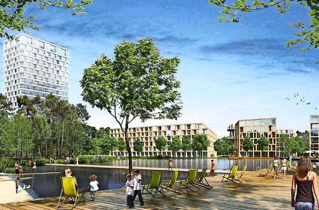 Die Stadt Stuttgart hat die Neubebauung des Eiermann-Campus' als Projekt für die Internationale Bauausstellung angemeldet. Foto: Steidle Architekten