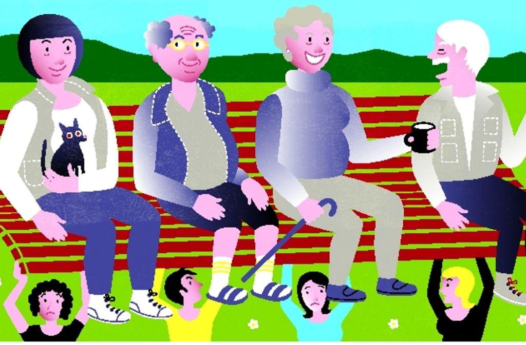Der Generationenvertrag ist die Basis des deutschen Rentensystems – Beitragszahler stehen ein für Rentenbezieher. Foto: Frauke Lehn