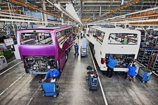 Ein Entwicklungsingenieur von Evobus klagt gegen Daimler. Im Bild: die Produktion von Evobus am Standort Neu-Ulm Foto: Daimler