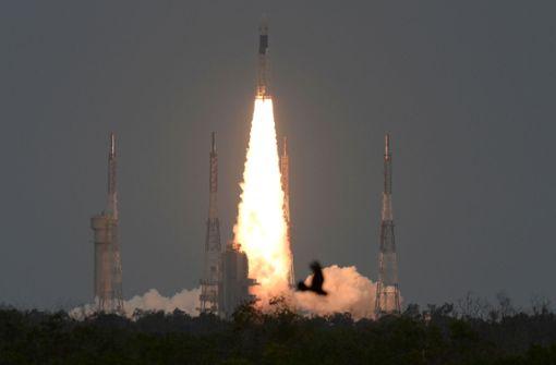 Rakete zu Indiens erster Mondlandemission gestartet