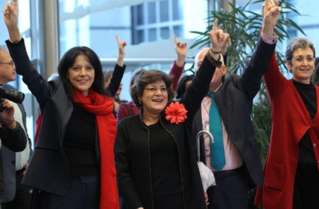 Tanzend setzt sich die Demonstranten für Mädchen und Frauen ein. Foto: Warnand