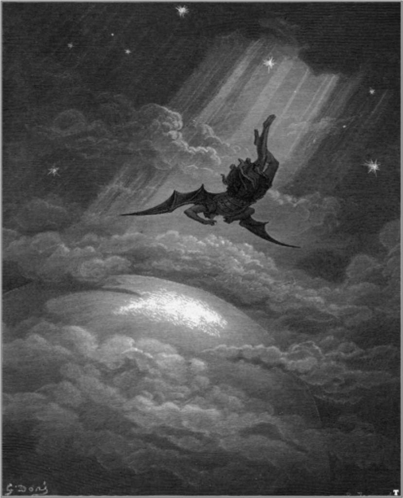 So stellte sich Gustave Doré den Sturz des Satans vor. In Veit Etzolds Thriller spielt dieser Knick in der himmlischen Karriereleiter auch eine Rolle. Foto: StZ