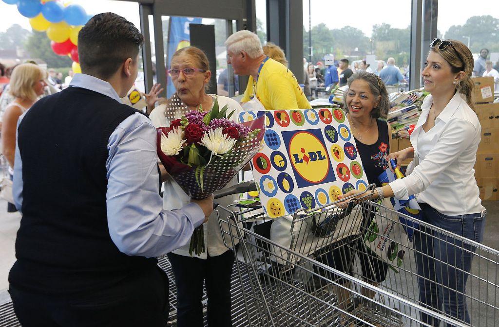 Am Donnerstag öffneten die ersten Lidl-Geschäfte in den Bundesstaaten Virginia sowie North und South Carolina an der US-Ostküste Foto: AP