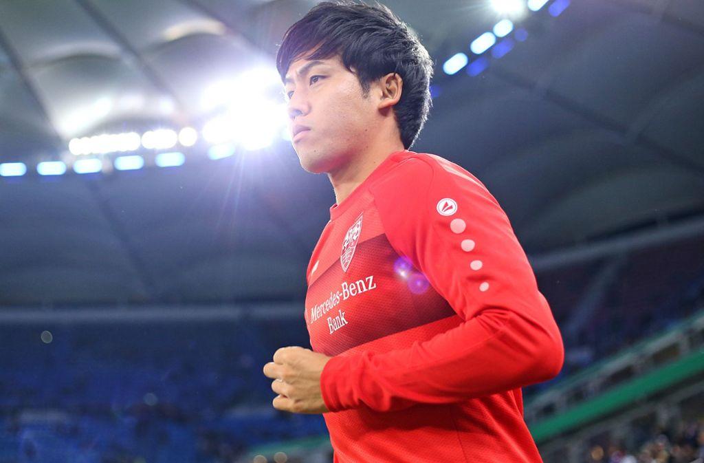 Wataru Endo steht noch vor einem Einsatz. Foto: Pressefoto Baumann/Cathrin Müller