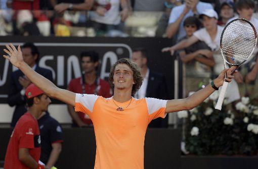 Zverev erstmals in Top Ten der Weltrangliste