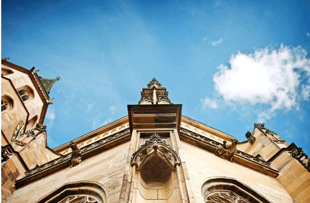In Schorndorf darf man  am Sonntag den Turm der Stadtkirche besteigen Foto: Stoppel/Archiv