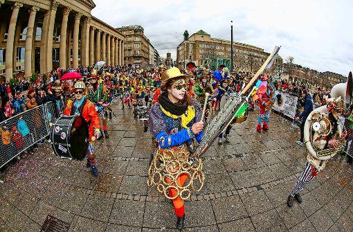 Die Guggenmusiker ließen es krachen. Foto: Lichtgut/Leif Piechowski