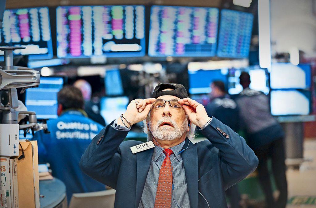 Beim Blick auf die Kurse an der New Yorker Börse trauten viele Händler ihren Augen nicht. Foto: dpa