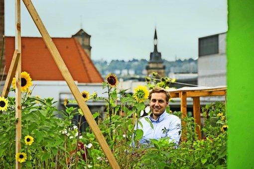 Die Stadt hat die Stelle des Koordinators für urbanes Gärtnern neu geschaffen. Alexander Schmid hat sie inne, er hat Landschaftsarchitektur studiert. Foto: Michael Steinert