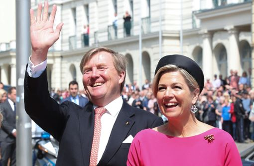 Niederländisches Königspaar in Schwerin eingetroffen