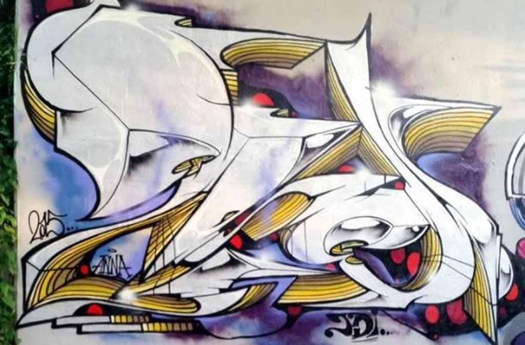 Ein Bild des Graffiti-Künstlers Jeroo bei Kirchheim. Foto: Jeroo