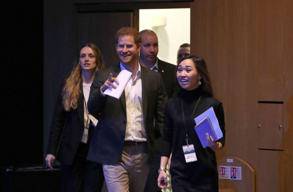 In Edinburgh wirbt Prinz Harry für nachhaltiges Reisen. Foto: AFP/ANDREW MILLIGAN