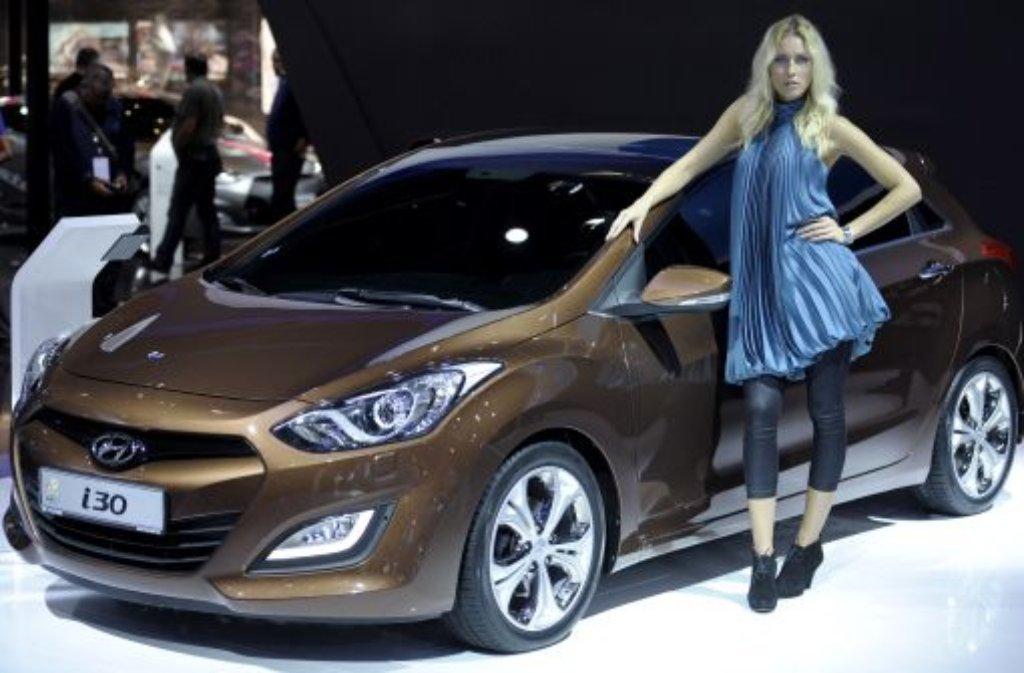 Vom 15. bis 25. September 2011 zeigen 1012 Aussteller auf der IAA Trends, Neuheiten und Studien rund um das Auto: etwa den Hyundai i30. Foto: dapd
