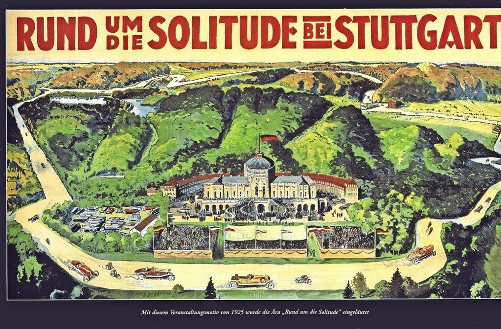 """Mit diesem Motiv aus dem Jahr 1925 wurde die Ära """"Rund um die Solitude"""" eingeleitet Foto: privat"""