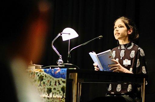 Meri Ketelhut ist die Gewinnerin des Lesewettbewerb-Landesentscheids Foto: Lichtgut/Leif Piechowski