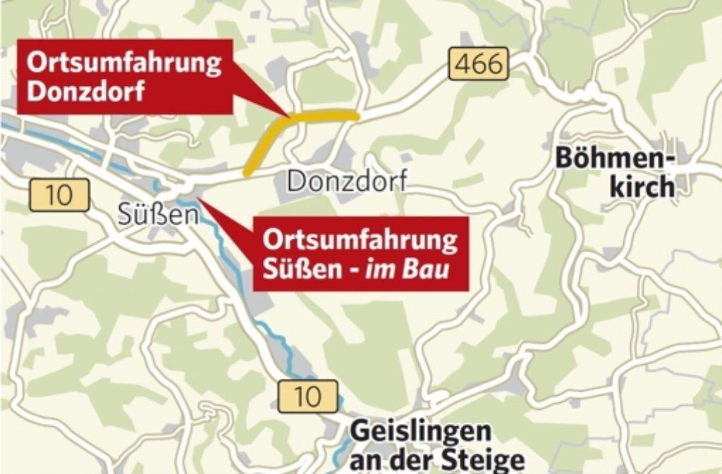 Donzdorf hat schon eine Umfahrung, Süßen bekommt eine, nur Böhmenkirch dürfte bis auf weiteres ein Nadelöhr bleiben. Foto: jev