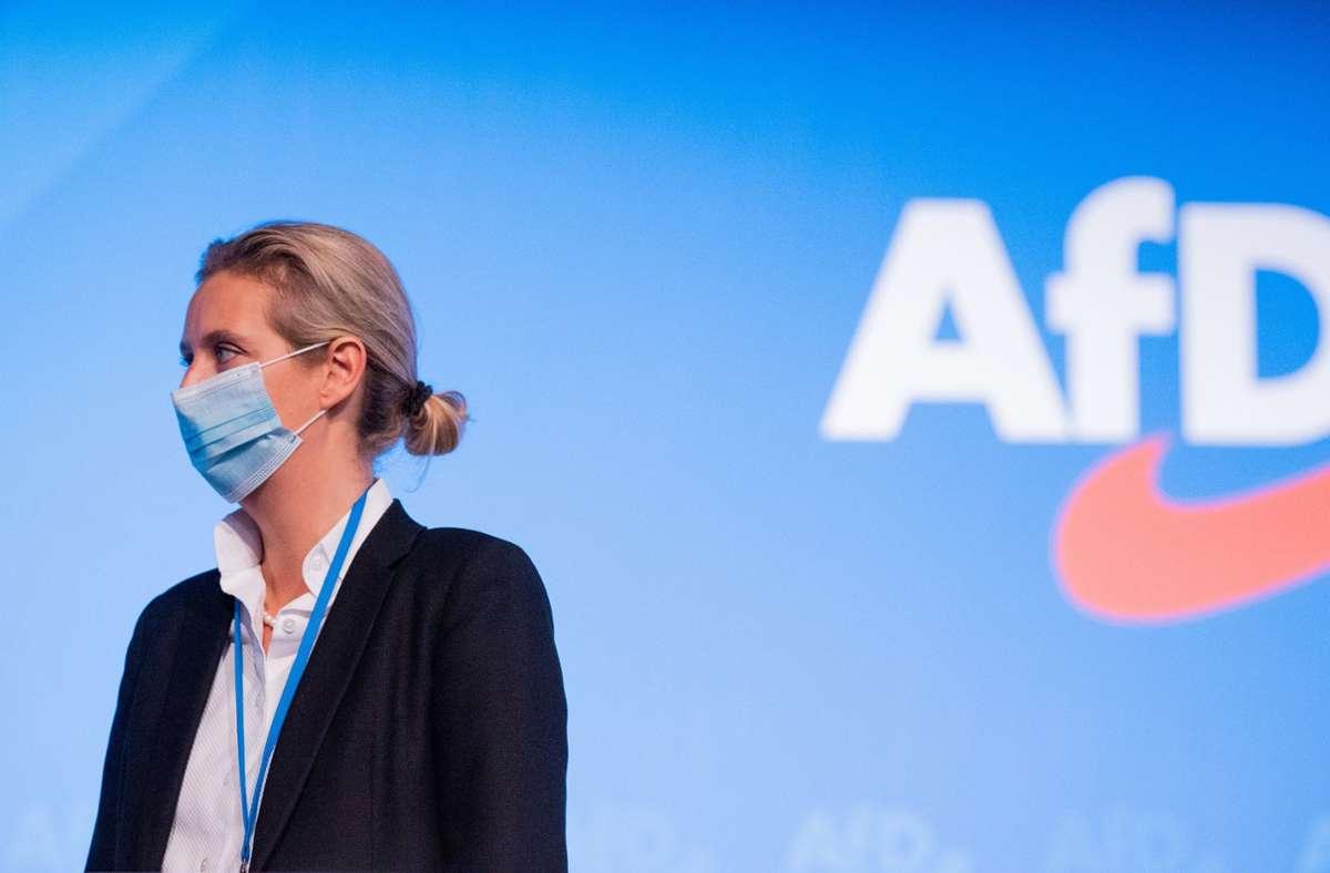Alice Weidel und andere Bundestagsabgeordnete kommen am Samstag zu einer AfD-Demo in Schorndorf. Anlass ist der Angriff auf ein Parteimitglied. Foto: dpa/Rolf Vennenbernd