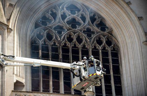 Polizei ermittelt wegen Brand in der Kathedrale von Nantes