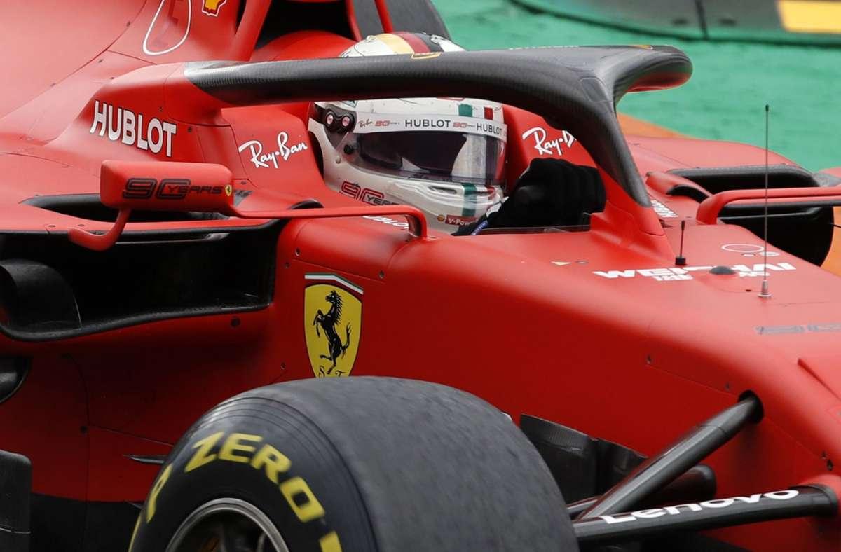Sebastian Vettel wird in Monza höchstwahrscheinlich ohne jede Chance sein. Foto: AP/Antonio Calanni