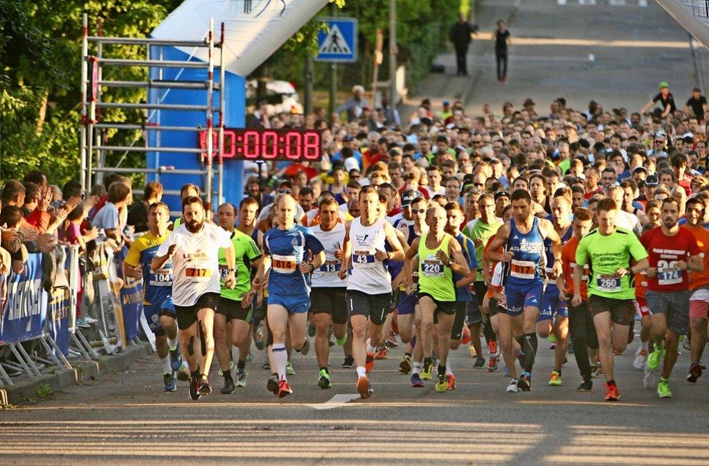 Start beim Citylauf in Leonberg – nur einer von vielen Höhepunkten in diesem Sommer. Foto: Andreas Gorr