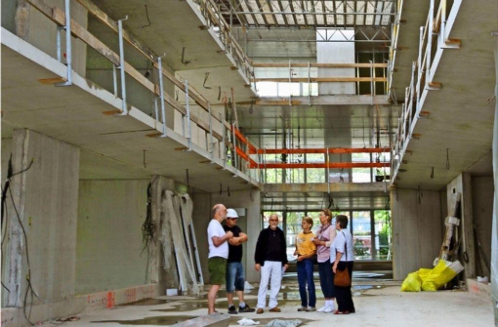 Das überdachte Atrium ist ein Blickfang des Baugemeinschafts-Hauses. Foto: factum/Granville