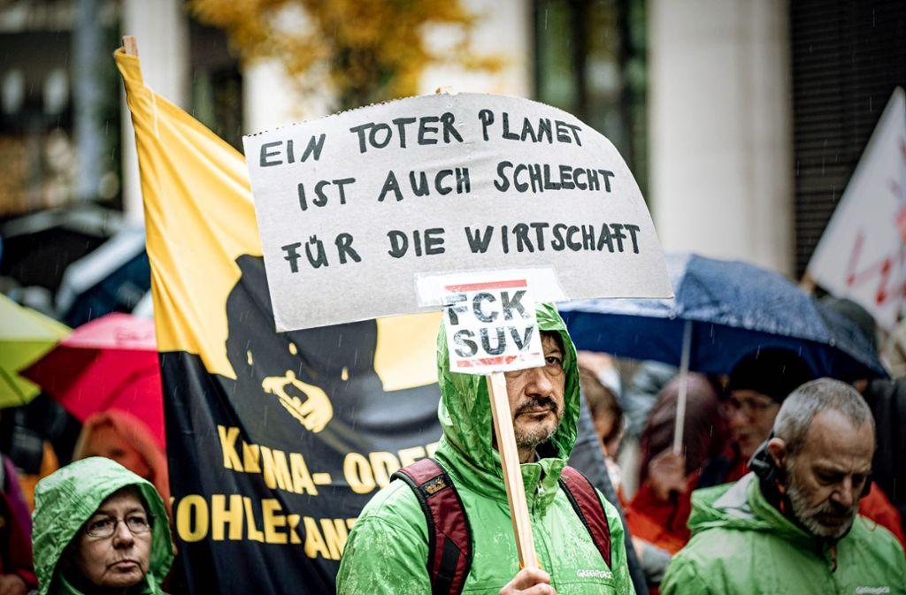 Schilderproteste bei Fridays for Future in Stuttgart Foto: 7aktuell/Marc Gruber