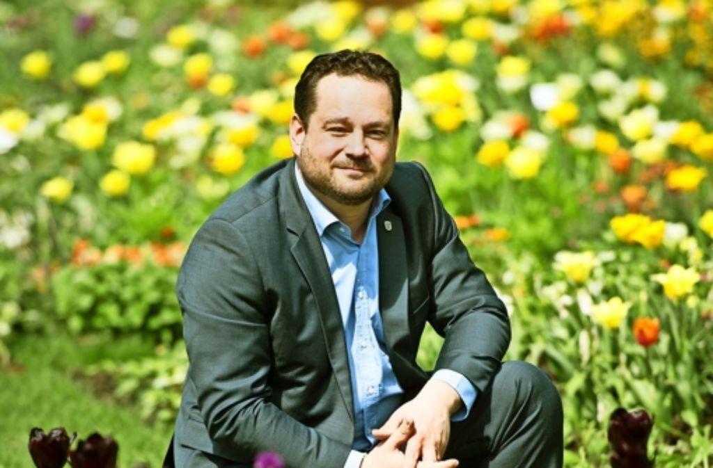 Ob bei der Landesgartenschau oder anderswo:  in der Außendarstellung gehört  Agrarminister Alexander Bonde (Grüne) zu den besonders eifrigen im Kabinett . Foto: dpa