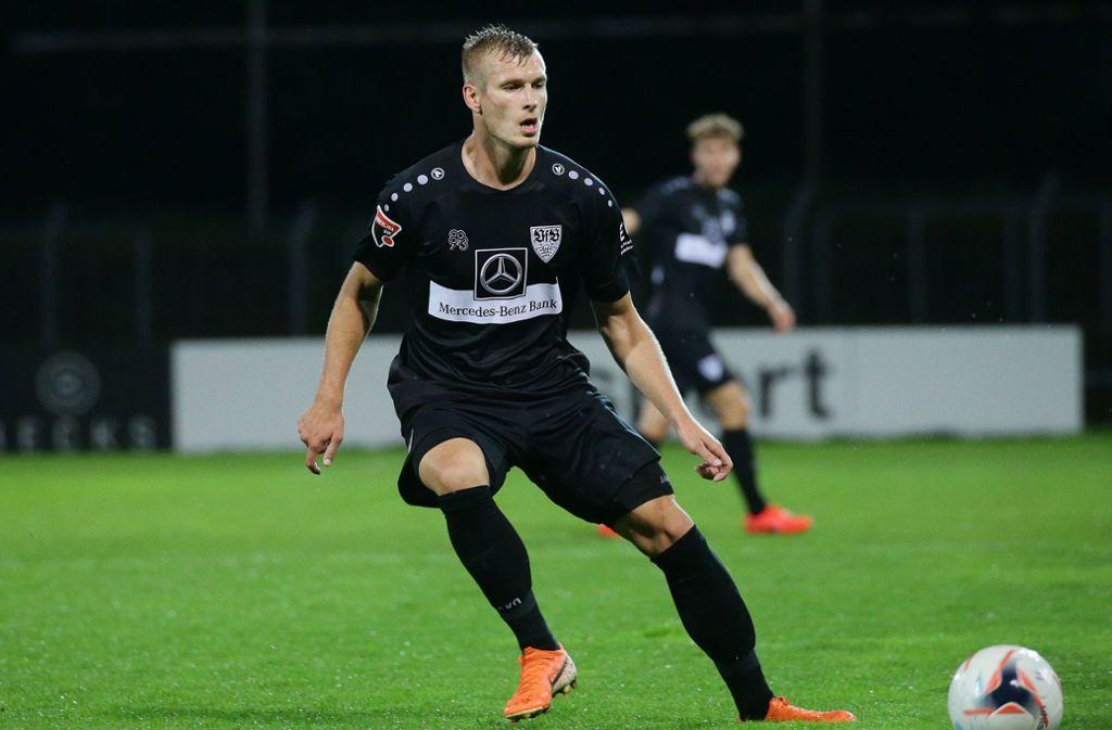 Marcel Sökler und der VfB II sind  im Pokal eine Runde weitergekommen. Foto: Pressefoto Baumann/Hansjürgen Britsch