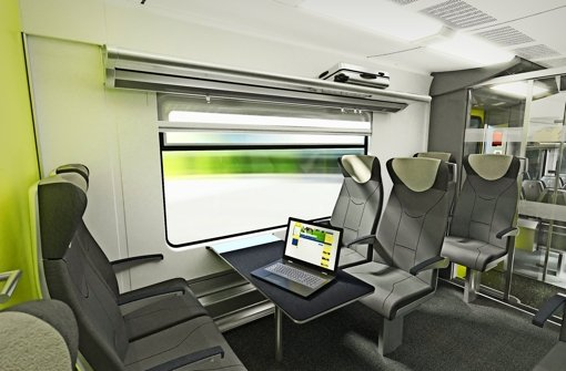 Mehr Komfort: unter anderem werden die Passagiere in den neuen Zügen der DB Regio, die im Gäu-Murr-Netz von 2017  an rollen werden, freies Wlan zur Verfügung haben. Foto: NVBW