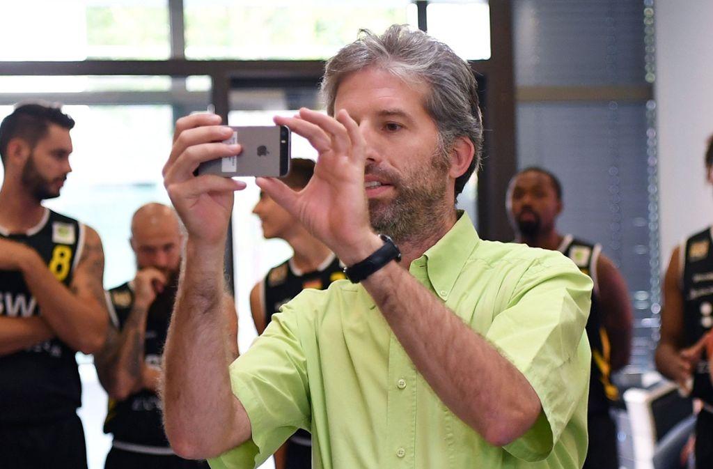 """Palmer soll gegen seinen Willen einen Studenten fotografiert haben. Als """"Leiter der Ortspolizeibehörde"""" dürfe er das, sagt er. Foto: ulmer"""